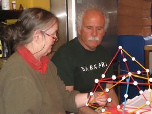 Ann Preston & Robert Gosper-Espinosa with Zome model